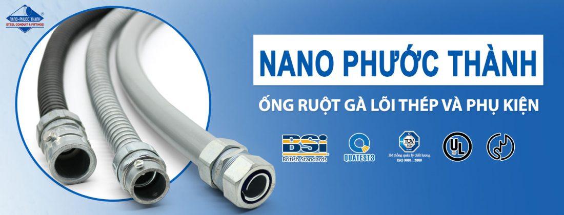 Ống ruột gà lõi thép luồn dây điện Nano Phước Thành